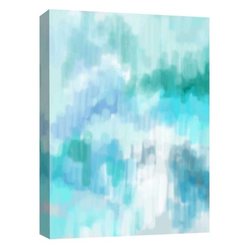 "Blue Misty I Decorative Canvas Wall Art 11""x14"" - PTM Images - image 1 of 1"