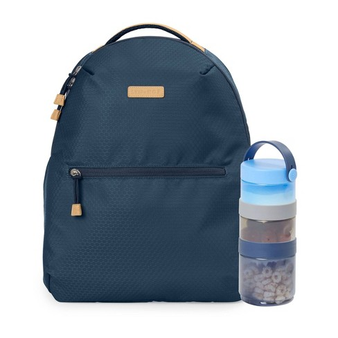 Skip Hop Go Envi Eco-Friendly Diaper Bag Backpack with Snack Containers - Blue - image 1 of 4