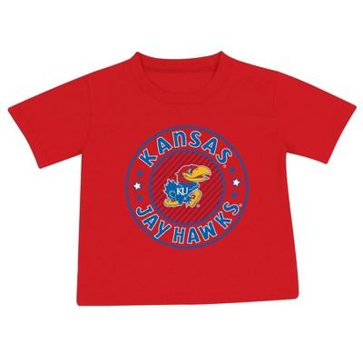 NCAA Kansas Jayhawks Toddler Boys' 2pk Short Sleeve T-Shirt