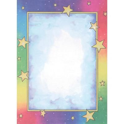 Royal Consumer Rainbow Stars Design Paper, 8-1/2 x 11 Inches, 100 Sheets