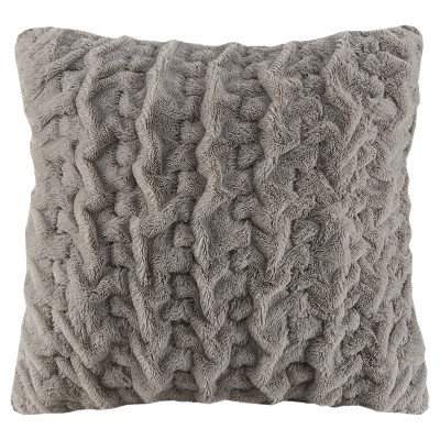 Gray Solid Throw Pillow
