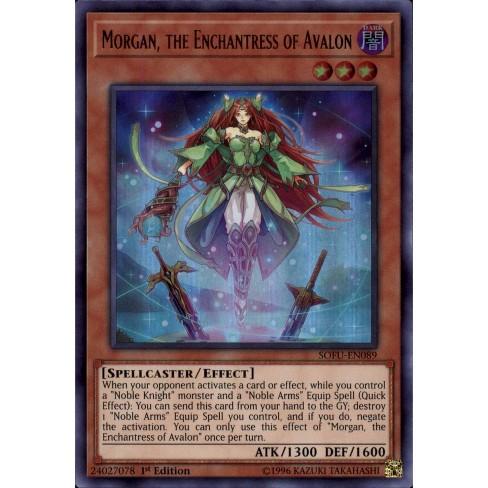 the Enchantress of Avalon Ultra Rare 1ST ED NM Yugioh SOFU-EN089 Morgan