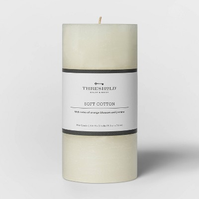 Pillar Candle Soft Cotton White - Threshold™