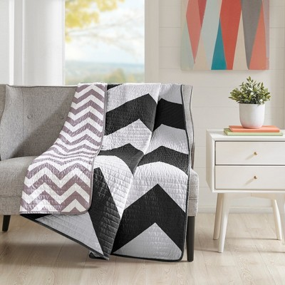 Black Pisces Oversized Quilted Throw (60 X70 )