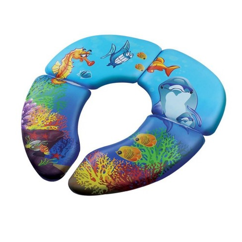 Babyloo Folding Cushion Toilet Seat with Travel Bag - Ocean - image 1 of 3