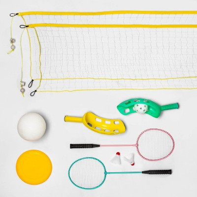Scoop Ball and 4pc Flying Disc Game Combo Lawn Sports Set - Sun Squad™