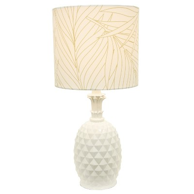 Pineapple Table Lamp White (Lamp Only)   Decor Therapy : Target