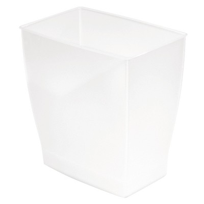 InterDesign Bath & Spa Plastic Rectangular Wastebasket - Frost (11l)