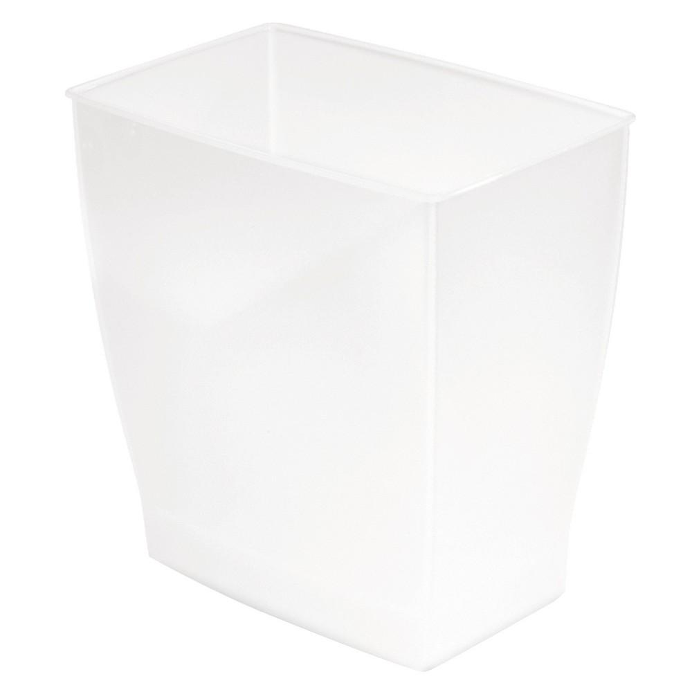 Image of InterDesign Bath & Spa Plastic Rectangular Wastebasket - Frost (11l)
