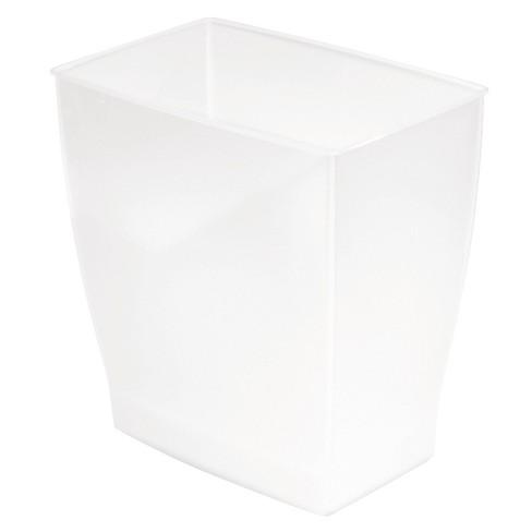 Interdesign Bath Spa Plastic, Glass Bathroom Trash Can