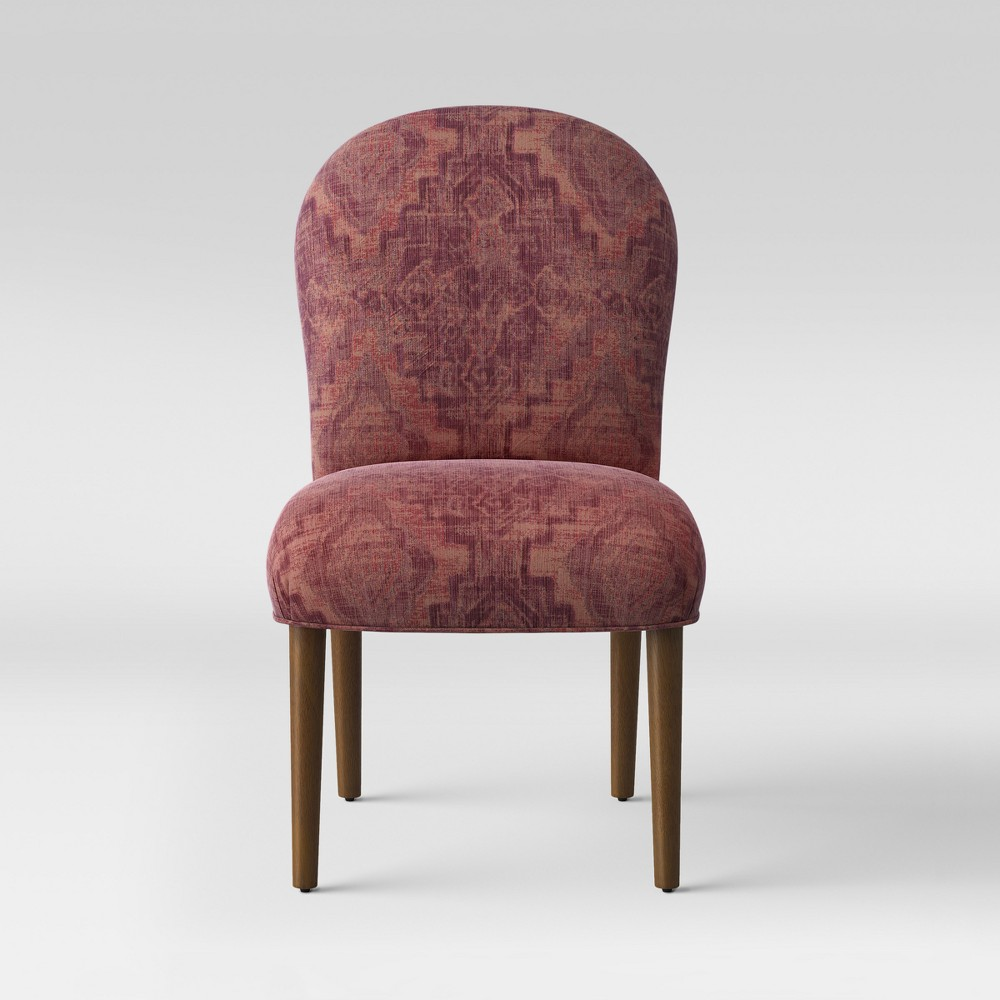 Caracara Rounded Back Dining Chair Pink Woven Design - Opalhouse, Pink Textured Woven