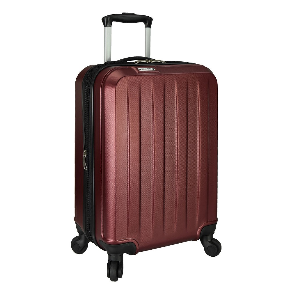 "Image of ""Elite Luggage 21"""" Dori Expandable Suitcase - Burgundy, Red"""