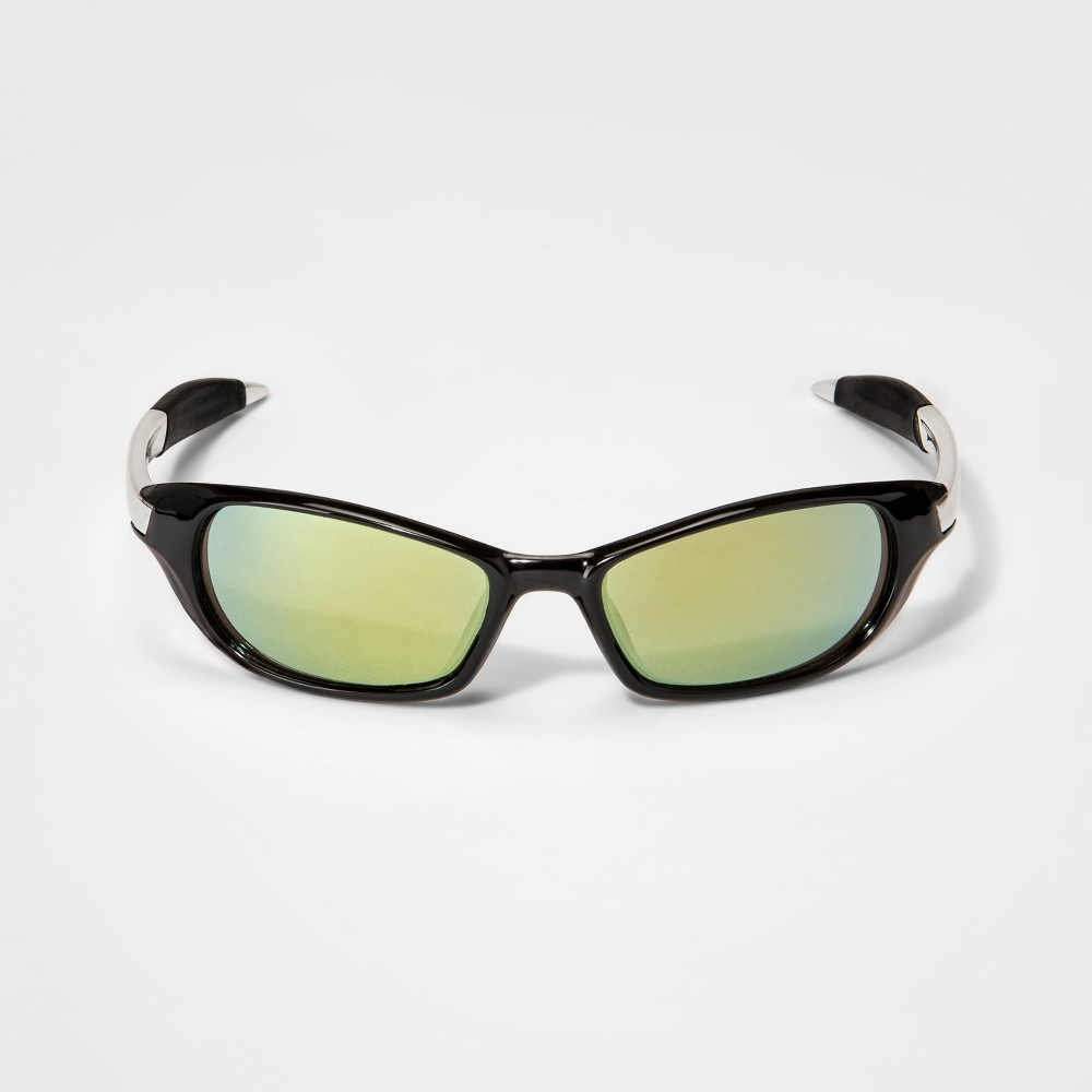 Image of Boys' Wrap Around with Mirrored Lens - Cat & Jack Black, Boy's