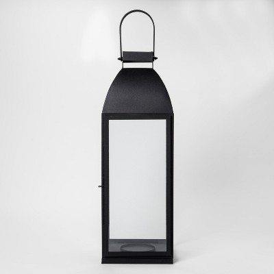 Lantern Candle Holder Large - Black - Smith & Hawken™