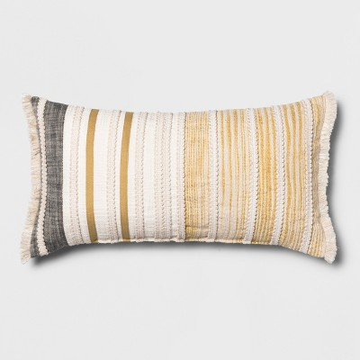 Patched Oversize Lumbar Throw Pillow Cream/Yellow - Opalhouse™