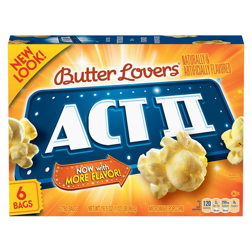 Image of Act II Butter Lovers Popcorn - 6ct