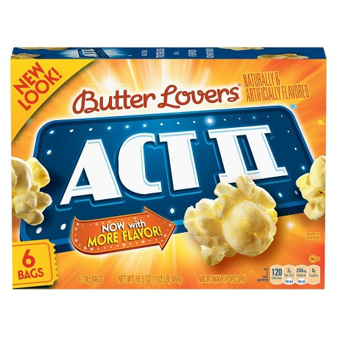 Act II Butter Lovers Popcorn - 6ct - image 1 of 1