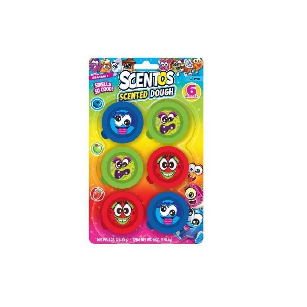 Image of 6ct Scented Party Dough, bubble toys
