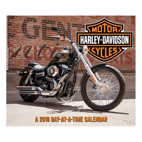 2018 Harley Davidson Day at a Time Box Calendar - Trends International - image 1 of 4