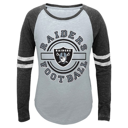 Oakland Raiders Girls' Crew Neck T-Shirt - image 1 of 1