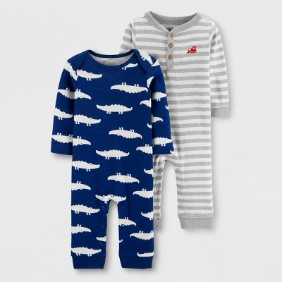 Baby Boys' 2pk Jumpsuits - Just One You® made by carter's Navy/Gray 6M