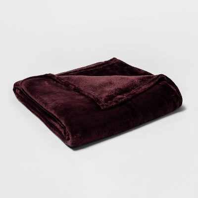 Full/Queen Microplush Bed Blanket Wine - Threshold™