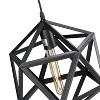 Lugh Geometric Cage Pendant Lamp - Matte Black - Aiden Lane - image 4 of 4