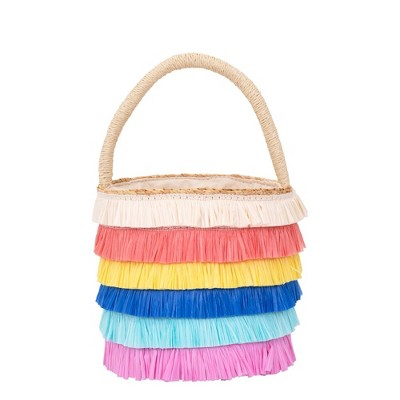 Meri Meri - Raffia Fringed Woven Straw Bag - Handbags - 1ct
