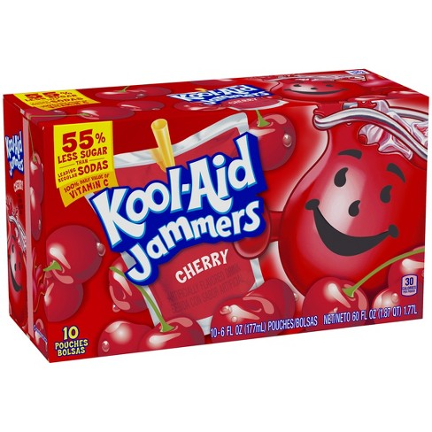 Kool-Aid Jammers Cherry Juice Drinks - 10pk/6 fl oz Pouches - image 1 of 3