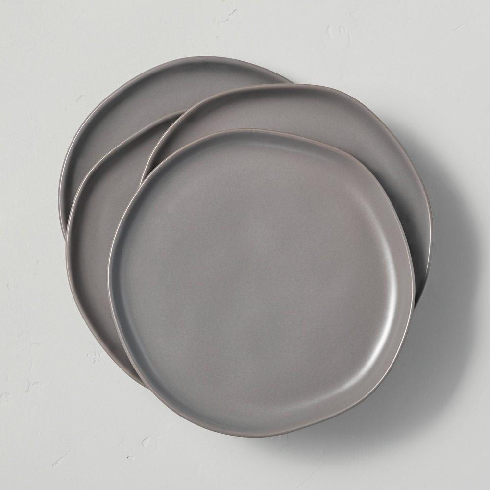 4pk Stoneware Salad Plate Set Matte Gray Hearth 38 Hand 8482 With Magnolia