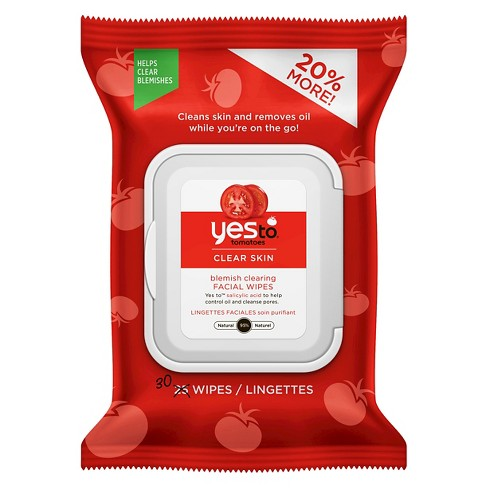 Yes to Tomatoes Blemish Clearing Facial Wipes - 30ct - image 1 of 3