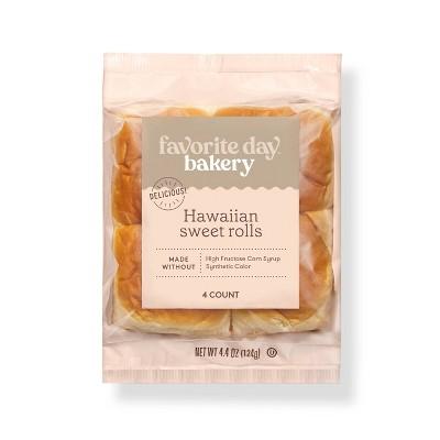 Hawaiian Sweet Rolls - 4.4oz/4ct - Favorite Day™