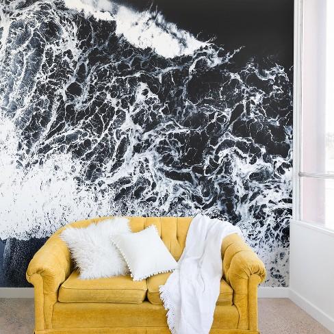 . Ingrid Beddoes Sea Lace Wall Mural Black   Deny Designs
