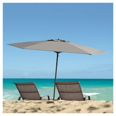 6u0027 UV And Wind Resistant Beach/Patio Umbrella   Gray   CorLiving : Target