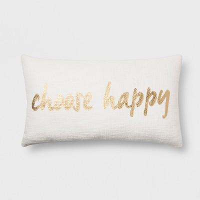 Choose Happy  Lumbar Throw Pillow - Room Essentials™
