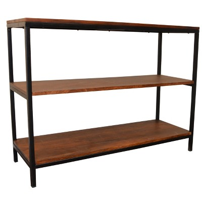 Finley Console/TV Stand - Chestnut/Black - Carolina Chair and Table