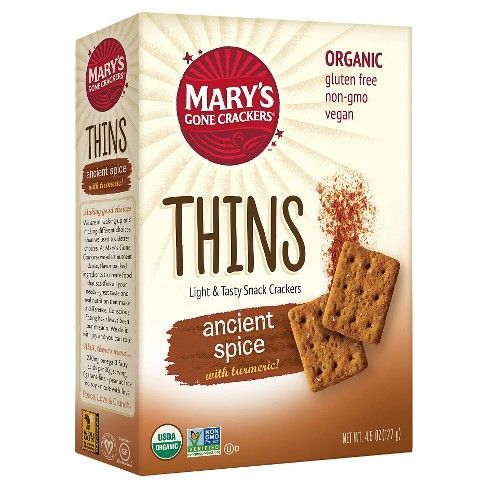 Mary's Gone Crackers® Thins- Ancient Spice Organic Cracker  4.5 oz. - image 1 of 2