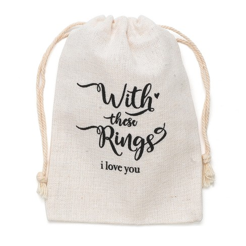 With these Rings Wedding Ring Bag, Black - image 1 of 1