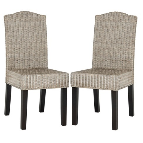 Odette Wicker Dining Chair (Set of 2) - Safavieh® - image 1 of 7