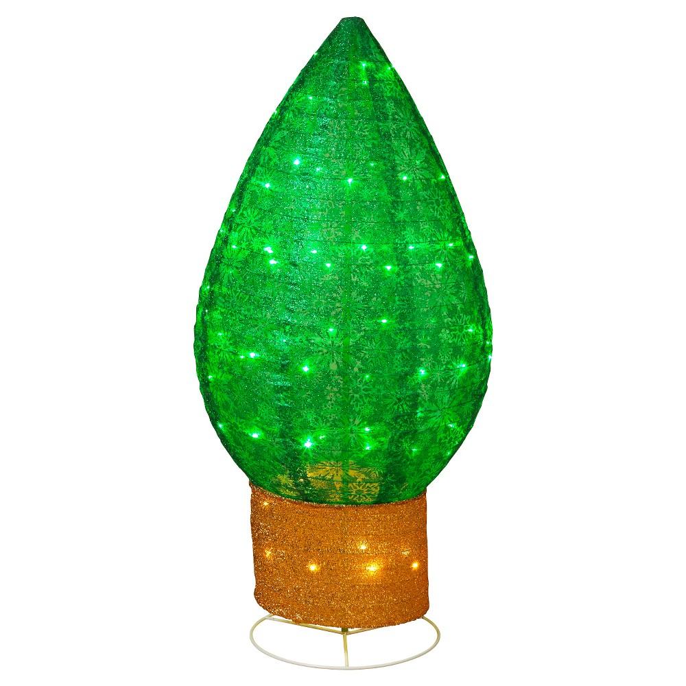 42 Giant Green Light Bulb, Multi-Colored