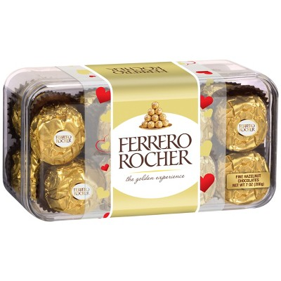 Ferrero Rocher Valentines Day Fine Hazelnut Chocolates - 7oz