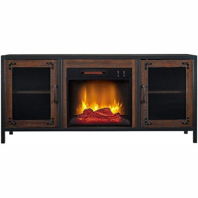 HearthPro Matthew Electric Fireplace Media Console in Brown - SP6556-OF