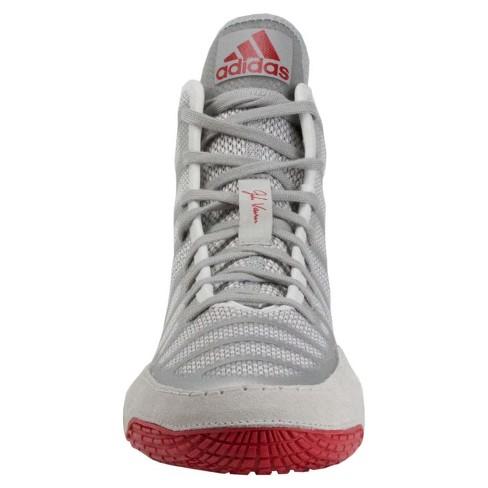 a7e5599363 Adidas Men s Adizero Varner Wrestling Shoes - Silver Red 8   Target