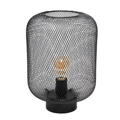 Metal Mesh Industrial Table Lamp Black - Simple Designs
