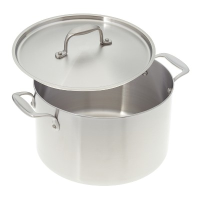 American Kitchen Cookware Premium Stainless Steel Covered 8 Quart Stock Pot