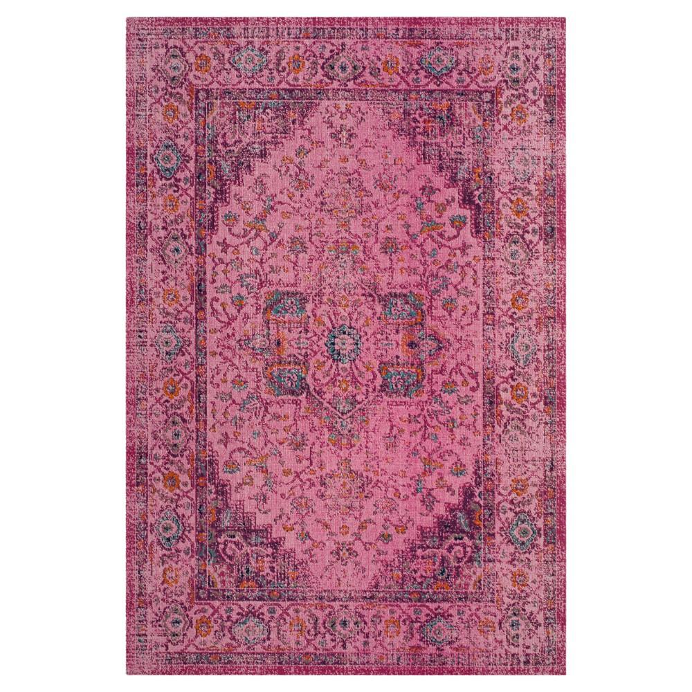 Fuchsia (Pink) Abstract Loomed Area Rug - (4'X6') - Safavieh