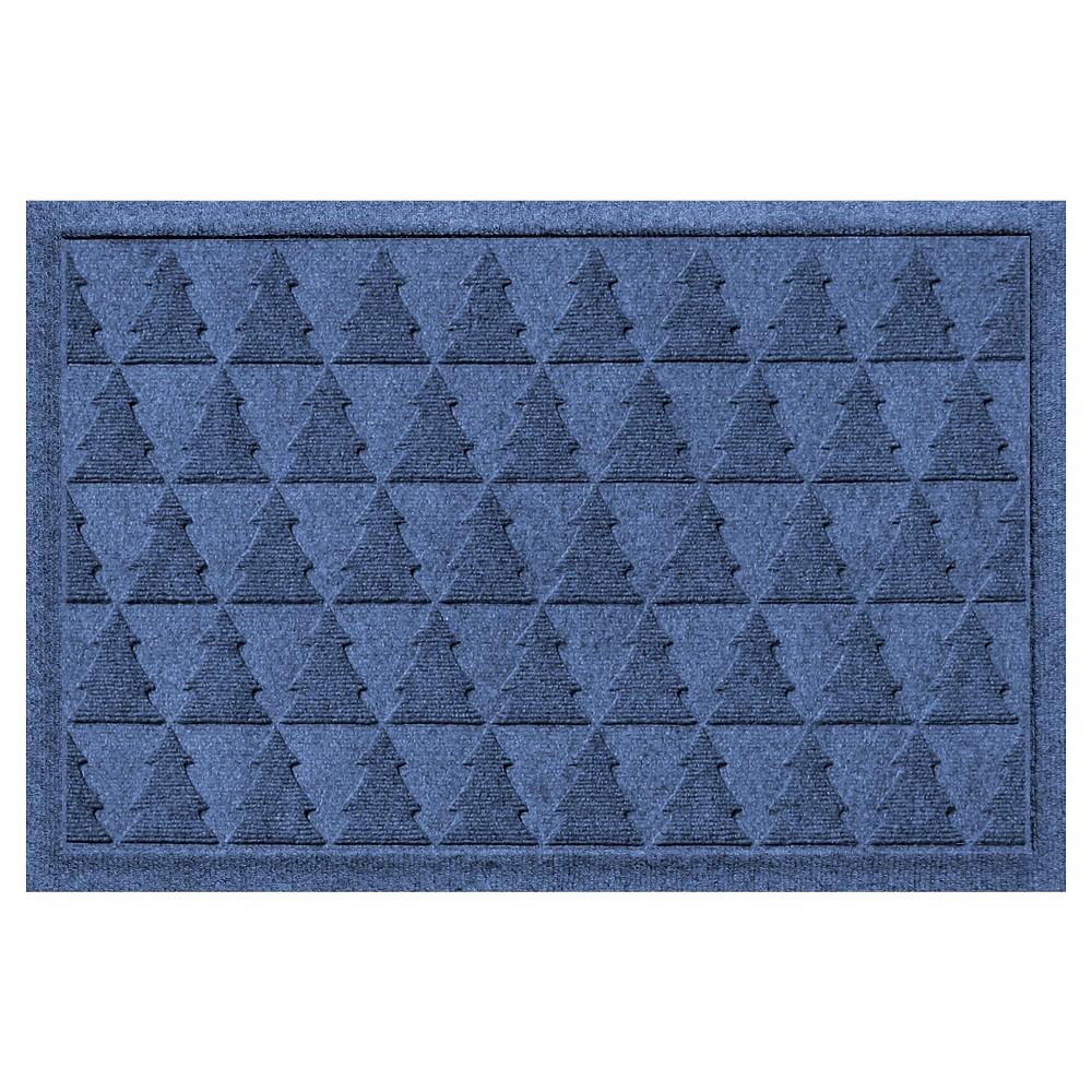 Navy (Blue) Botanical Doormat - (2'X3') - Bungalow Flooring