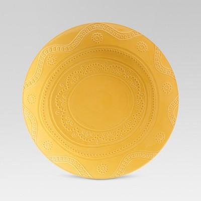 Kennet Ceramic Dinner Plate 10.5  Yellow - Threshold™