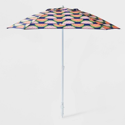 6' Watermelon Tilted Adjustable Umbrella - Sun Squad™
