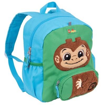 """LEGO DUPLO Block Monkey 12"""" Backpack - Blue"""